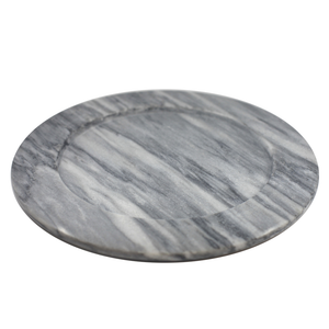 Large Marble Plate Hand Turned 30cm