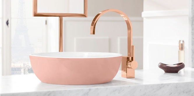 Rose gold brassware