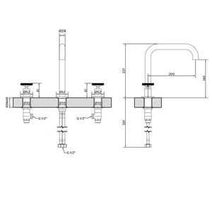REVOLUTION | 3 Hole deck mounted basin mixer