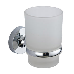 Plan chrome round tumbler and holder - Bathroom Trend