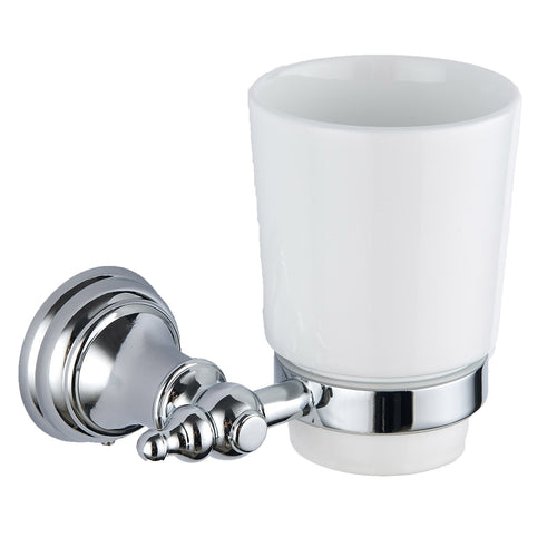 Astley chrome tumbler and holder - Bathroom Trend