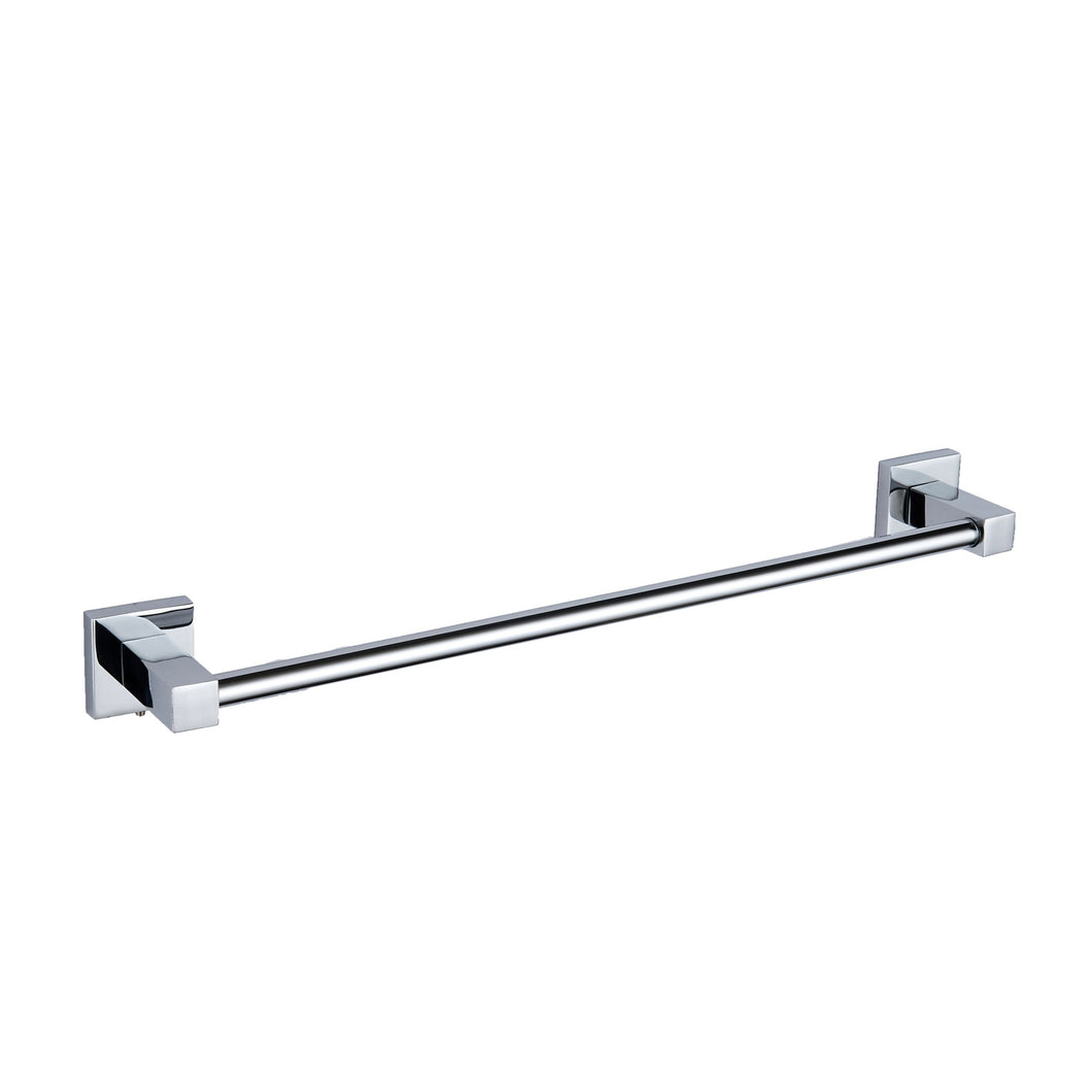 Pure chrome square towel bar - Bathroom Trend