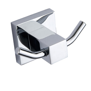 Pure chrome square robe hook - Bathroom Trend