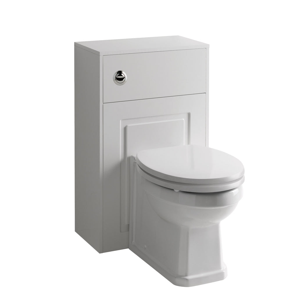 Astley traditional WC unit complete with back to wall pan and soft close seat - Bathroom Trend