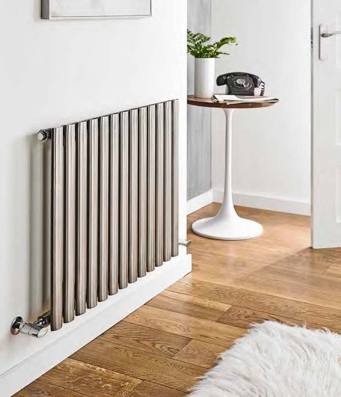 Aspen Stainless Steel Horizontal Designer Radiator - Bathroom Trend
