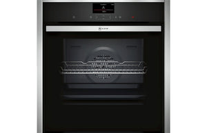 Neff N90 B47CS34H0B B/I Single Slide&Hide® Electric Oven - St/Steel & St/Steel
