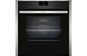 Neff N90 B47FS34H0B B/I Single Slide&Hide® Electric Oven w/FullSteam - St/Steel