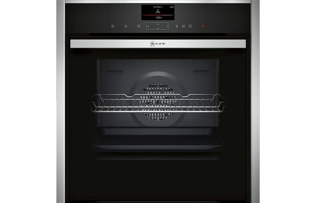Neff N90 B47VS34H0B B/I Single Slide&Hide® Electric Oven w/VarioSteam - St/Steel