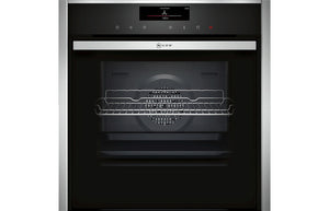 Neff N90 B58VT68H0B B/I Single Slide&Hide® Pyrolytic Oven w/VarioSteam - St/Steel