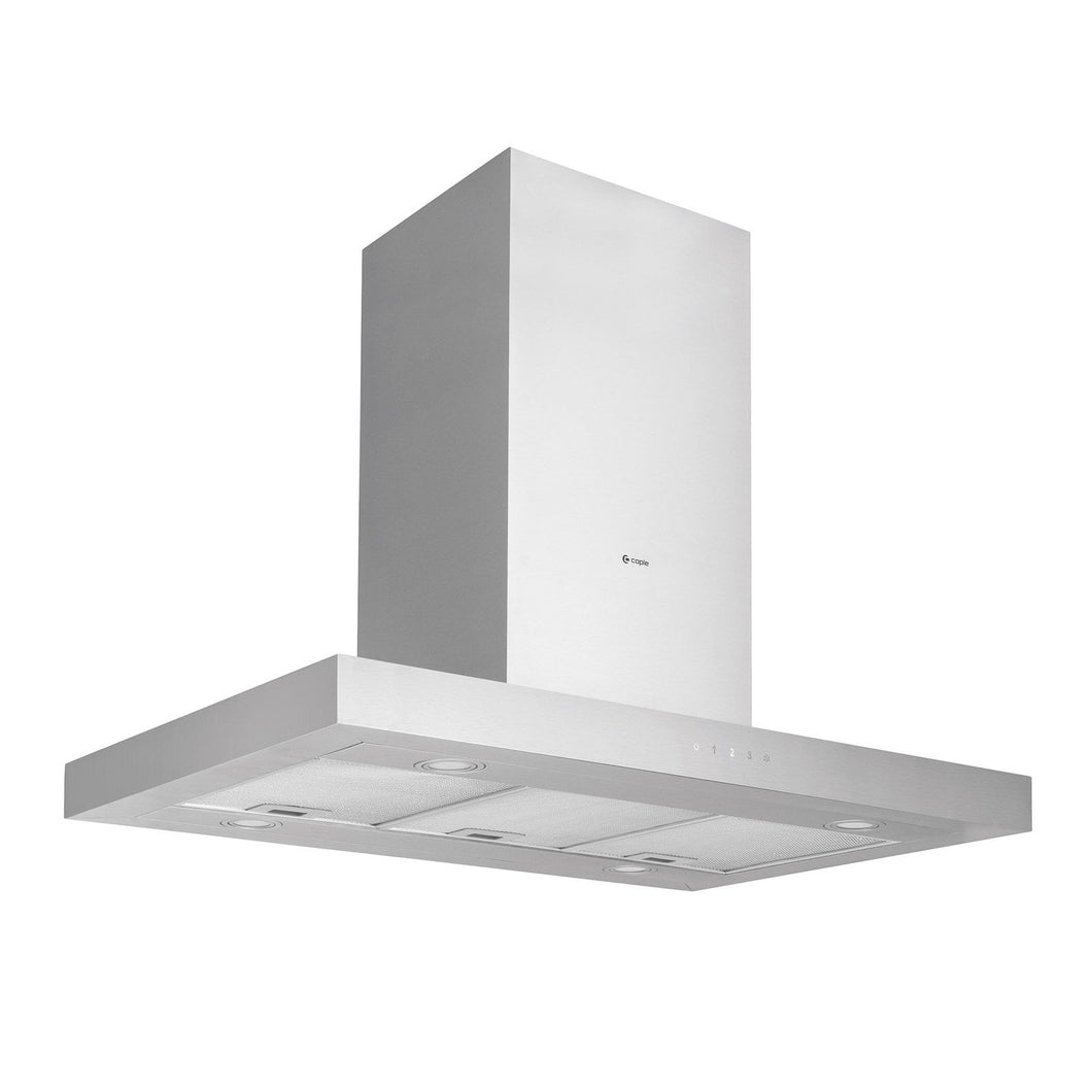 CAPLE | 900mm Stainless Steel Touch Control Island Hood - Bathroom Trend