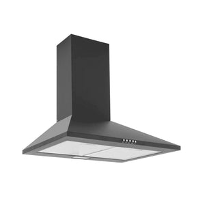 CAPLE | 600mm Black Wall mounted chimney hood - Bathroom Trend