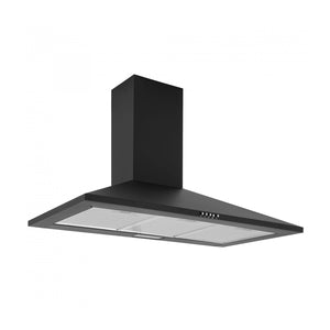 CAPLE | 900mm Black wall mounted chimney hood - Bathroom Trend