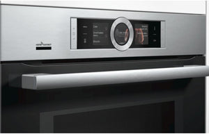 Bosch Serie 8 CMG676BS6B B/I Compact Pyrolytic Oven & Microwave - St/Steel