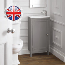 Load image into Gallery viewer, Etienne traditional slimline cloakroom vanity unit - Bathroom Trend