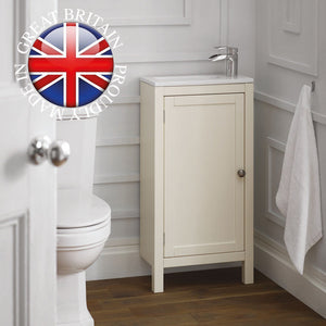 Etienne traditional slimline cloakroom vanity unit - Bathroom Trend