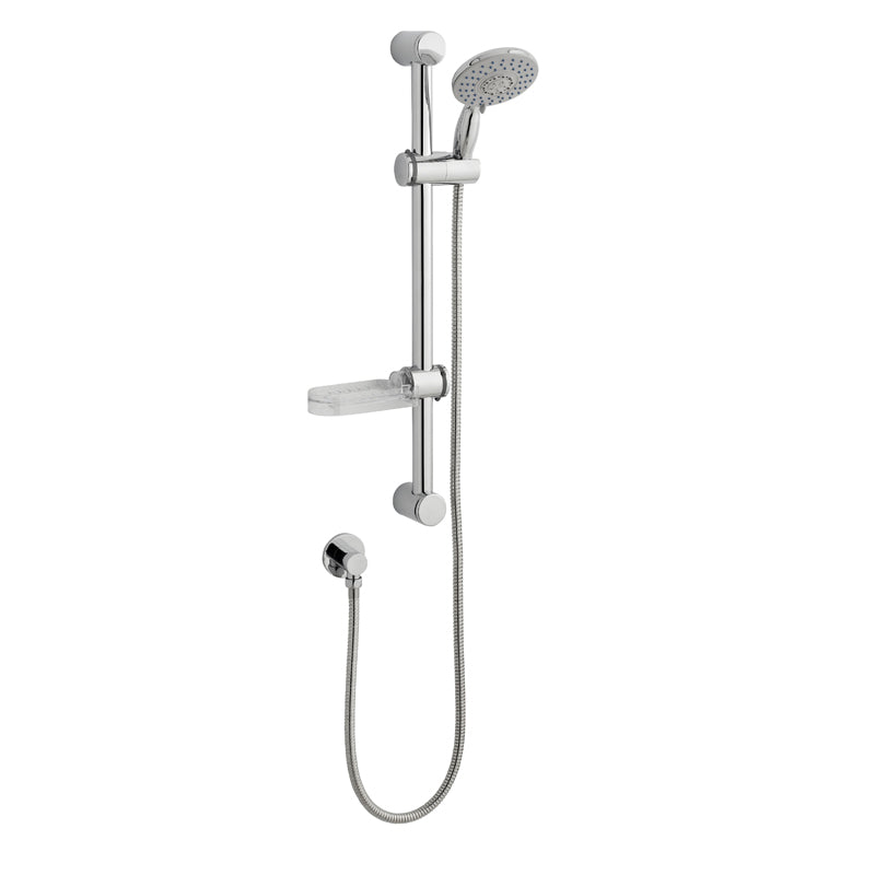 Deluge adjustable slide rail kit with soap tray - Bathroom Trend
