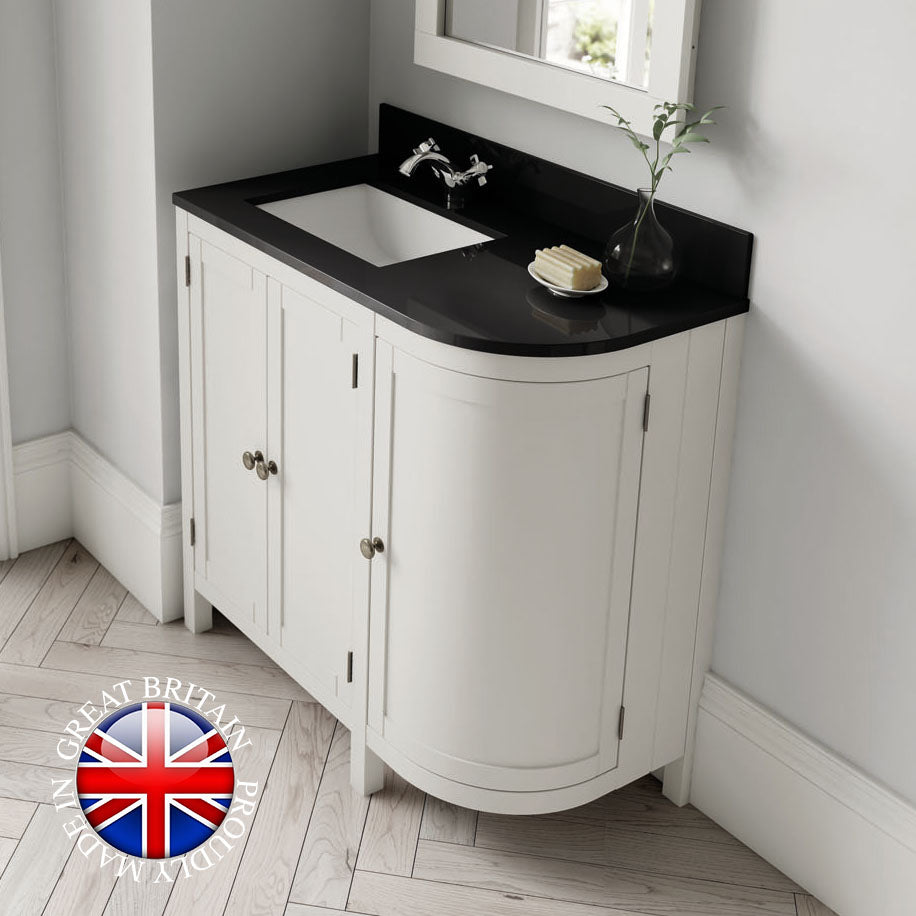 Etienne 900 classic curved corner vanity basin unit - Bathroom Trend