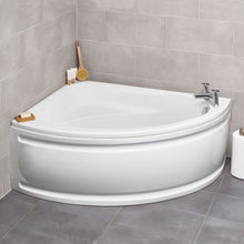Load image into Gallery viewer, Formula offset corner bath complete with front panel - Bathroom Trend