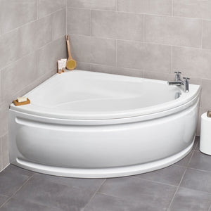 Formula offset corner bath complete with front panel - Bathroom Trend