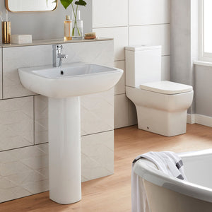 Korsika four piece bathroom toilet and basin set - Bathroom Trend
