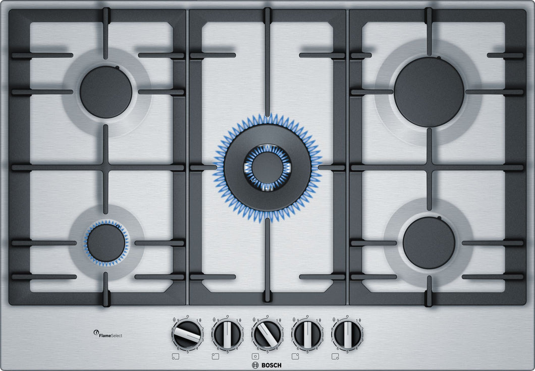 BOSCH | Stainless Steel 5 Gas Cooker Hob - Bathroom Trend