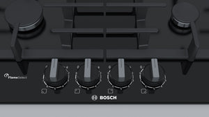 Bosch | Black tempered Glass 4 Gas hob 60cm - Bathroom Trend