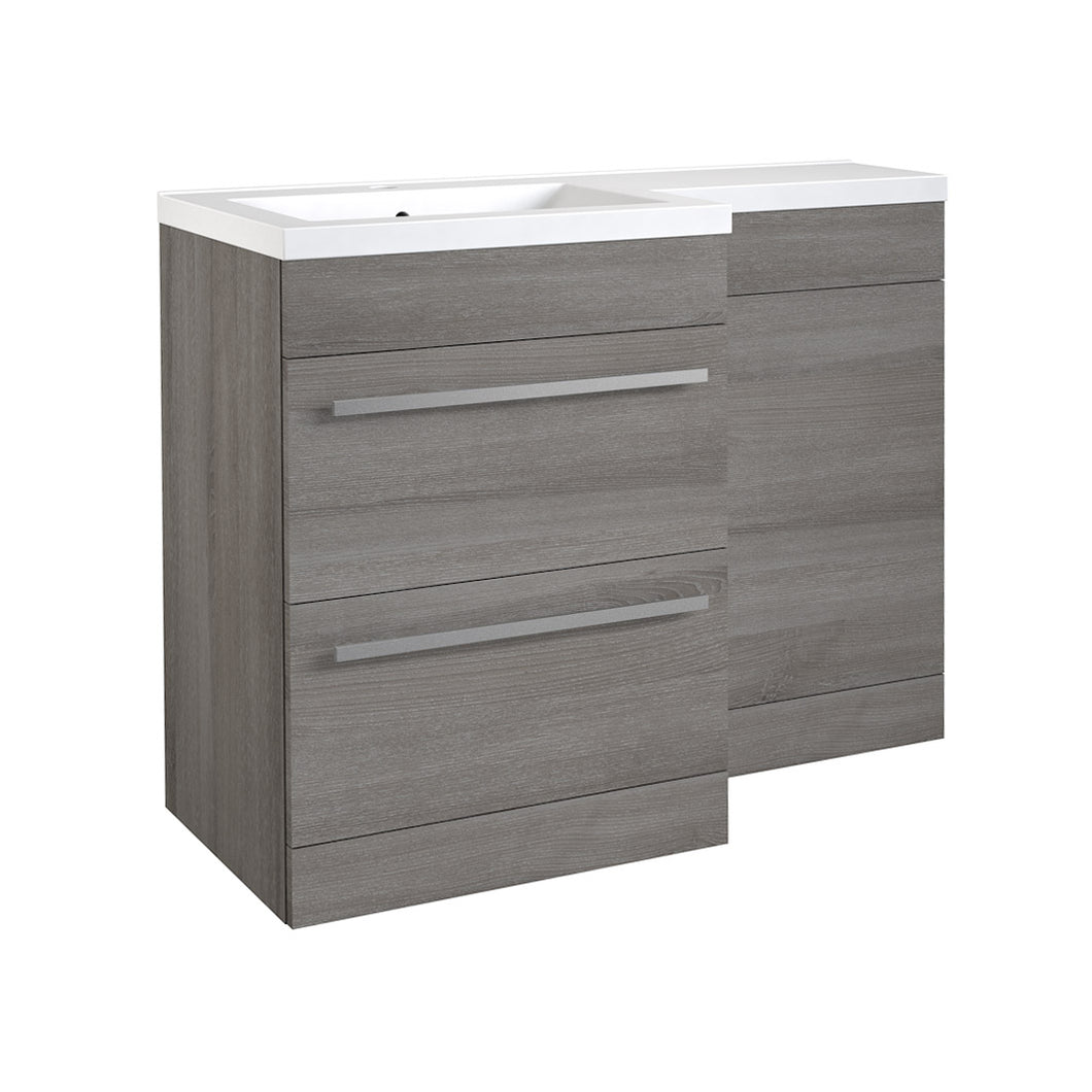 Matrix 2 draw L-shaped 1100mm furniture pack - Bathroom Trend