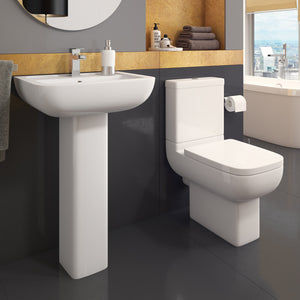 Options four piece bathroom toilet and sink set - Bathroom Trend