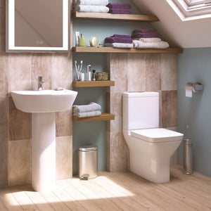 Project square four piece bathroom toilet and basin set - Bathroom Trend