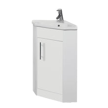 Load image into Gallery viewer, Impakt white vanity units with ceramic basin - Bathroom Trend