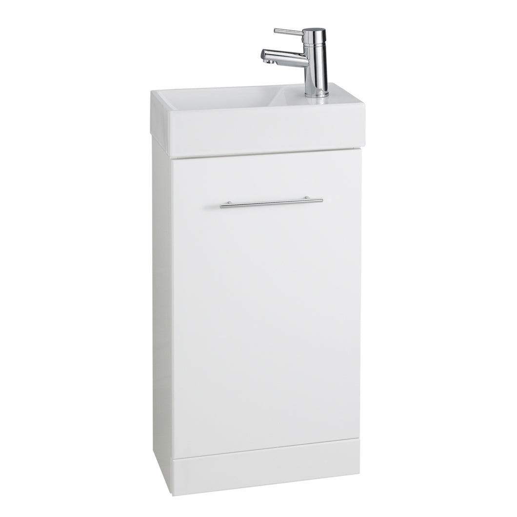 Impakt white vanity units with ceramic basin - Bathroom Trend