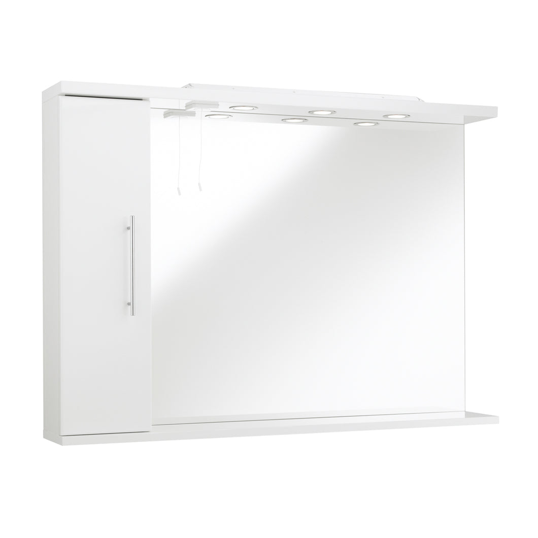 Impakt illuminated bathroom mirror cabinet - Bathroom Trend