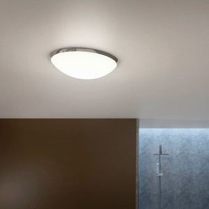 SENSIO | IP44 Chrome finish LED bathroom flush with frosted glass diffuser - Bathroom Trend