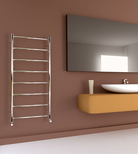 Maxi Flat 600-8 Bar 600mm x 1300mm Stainless Steel Towel Rail
