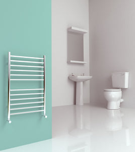 Midi Flat 520 x 810mm Stainless Steel Towel Rail