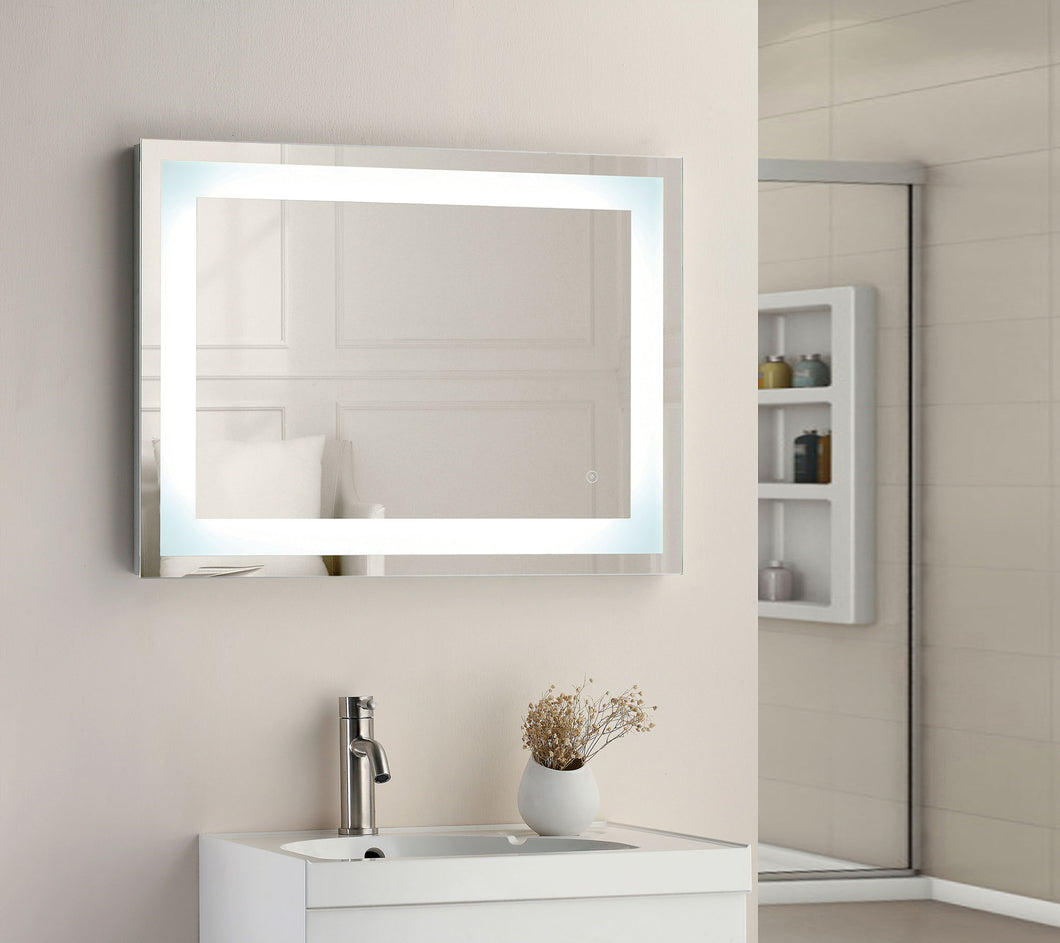 Square strip LED touch mirror