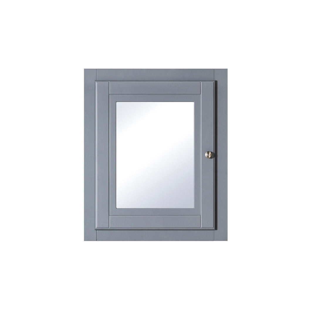 Traditional grey shaker style bathroom mirror cabinet