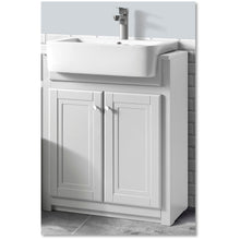 Load image into Gallery viewer, Traditional 600mm belfast vanity unit & ceramic basin