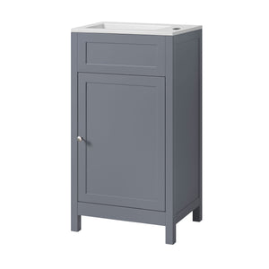 Traditional shaker style cloakroom vanity unit with ceramic basin