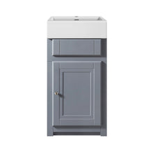 Load image into Gallery viewer, Traditional 445mm Belfast cloakroom vanity unit with ceramic basin