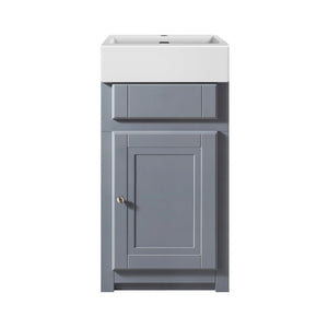 Traditional 445mm Belfast cloakroom vanity unit with ceramic basin