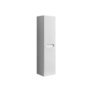 White rounded tall boy storage unit 1420mm