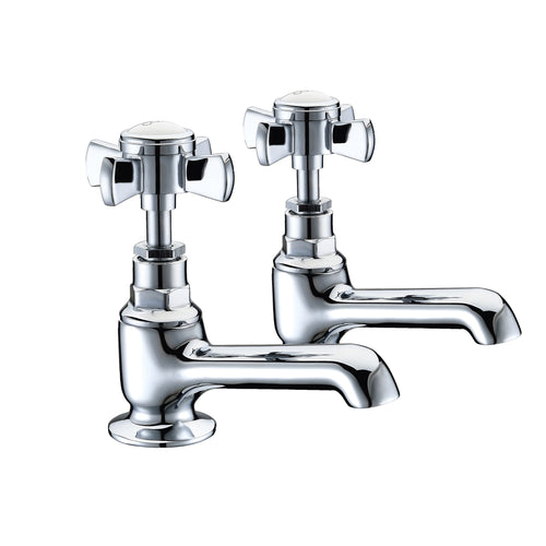Wisley | Traditional chrome finish Edwardian bath taps (full turn operation)