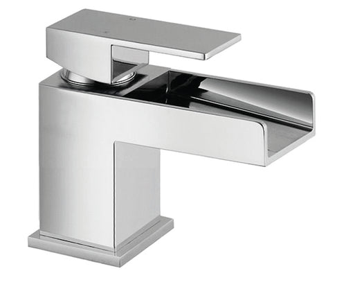 Warley | Modern chrome square mini waterfall tap (waste required)