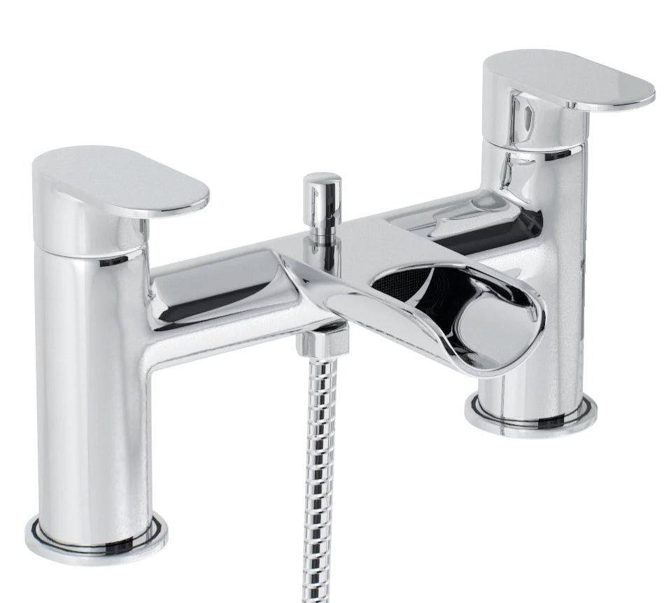 Ganton | Modern chrome finish round bath shower mixer