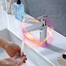 Load image into Gallery viewer, Infrared sensor basin mixer with integrated soap dispenser