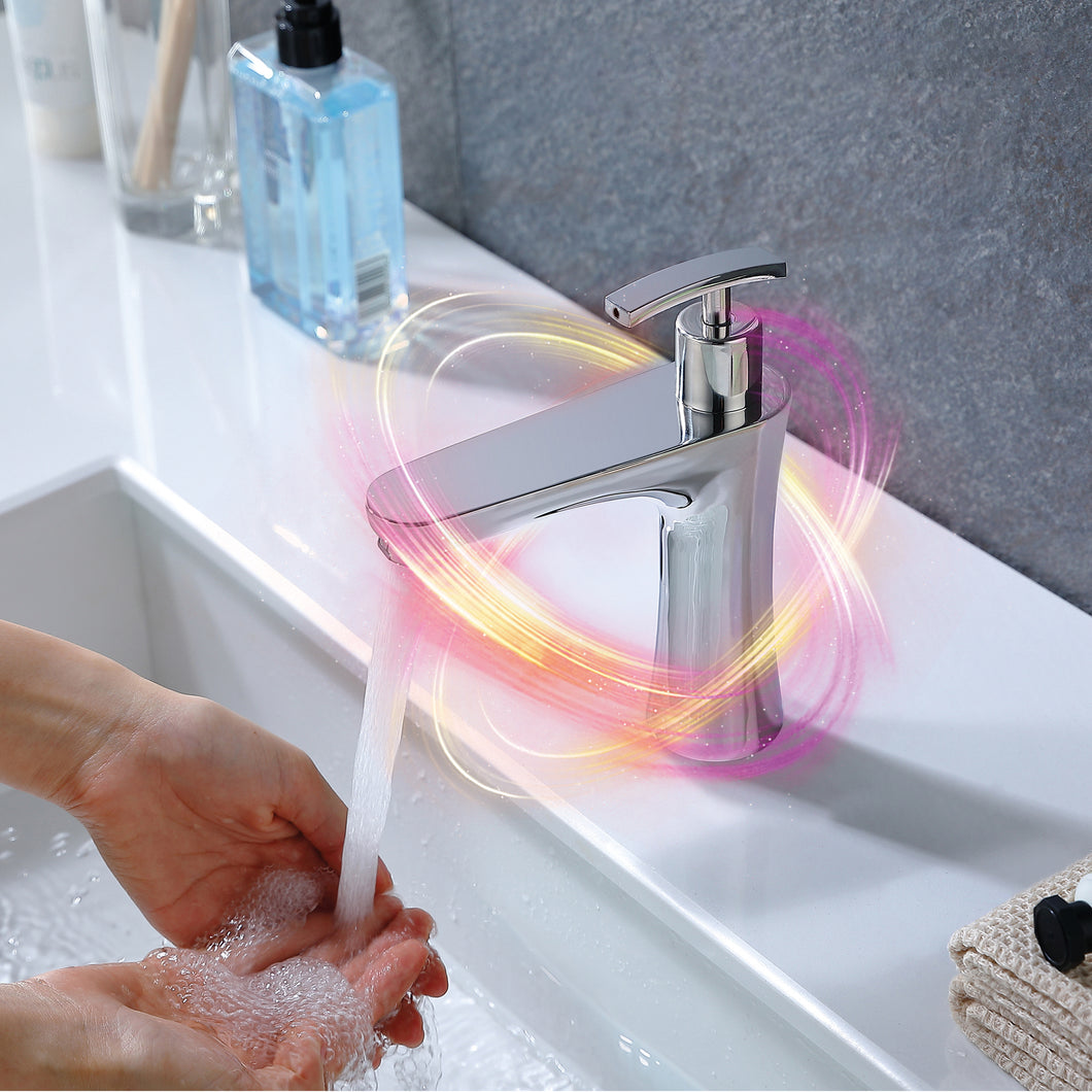 Infrared sensor basin mixer with integrated soap dispenser