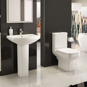 Trim four piece bathroom toilet and basin set - Bathroom Trend