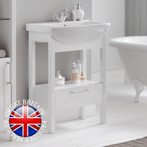 Sendai 650 freestanding vanity unit and basin - Bathroom Trend
