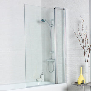 Koncept straight square edge bath shower screens - Bathroom Trend